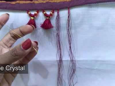 How to make Crystal Kuchu using stone rings I Ladies Club