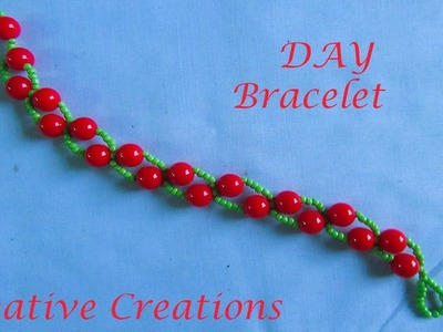 How to make easy beautiful Bracelet by Creative Creations