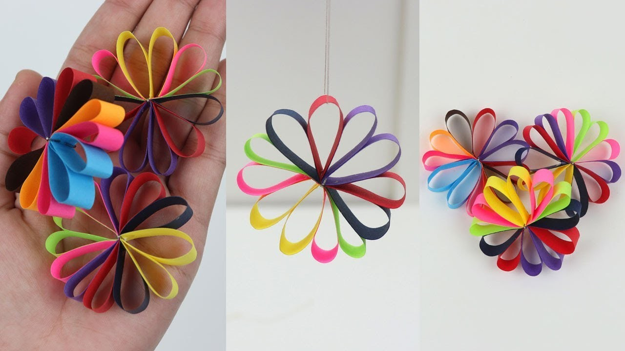 How to make hanging paper flowers garland for easy party decorations how to make hanging paper flowers garland for easy party decorations on budget diy ezzy crafts mightylinksfo