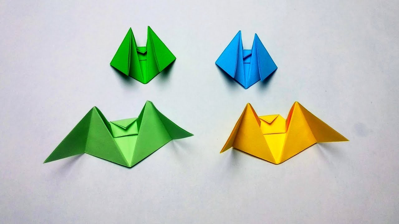How to make paper Bat? (3D Origami Animals Instructions)