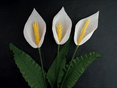 How to make paper calla lily - Easy and quick paper flowers crepe