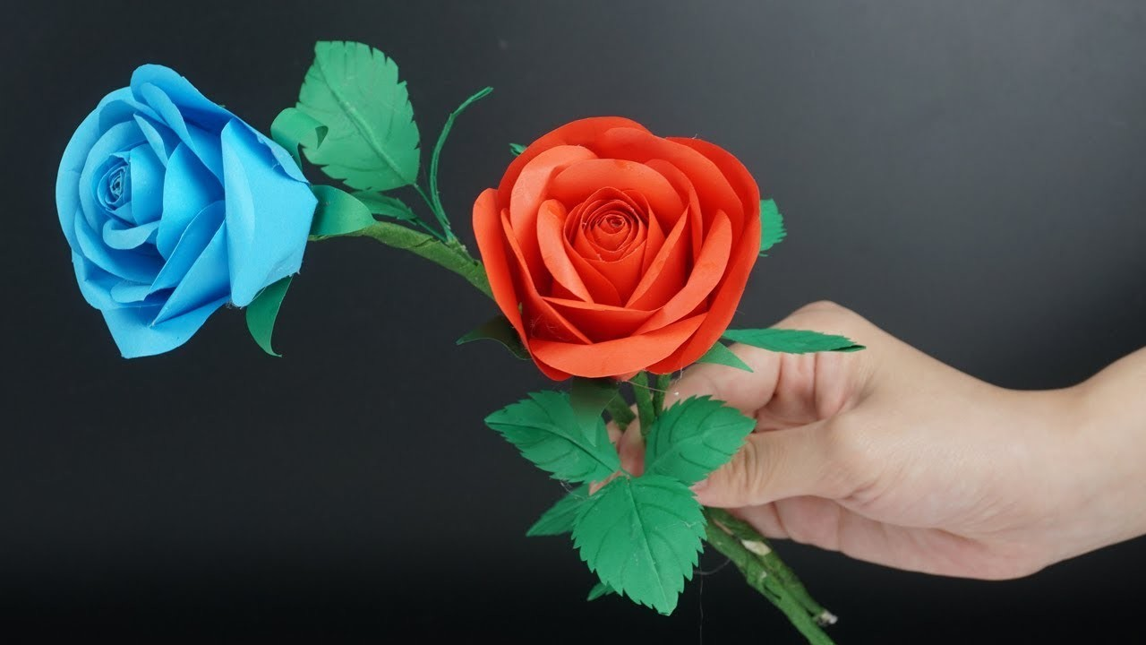 How To Make Paper Flowers Realistic And Easy Paper Roses Diy