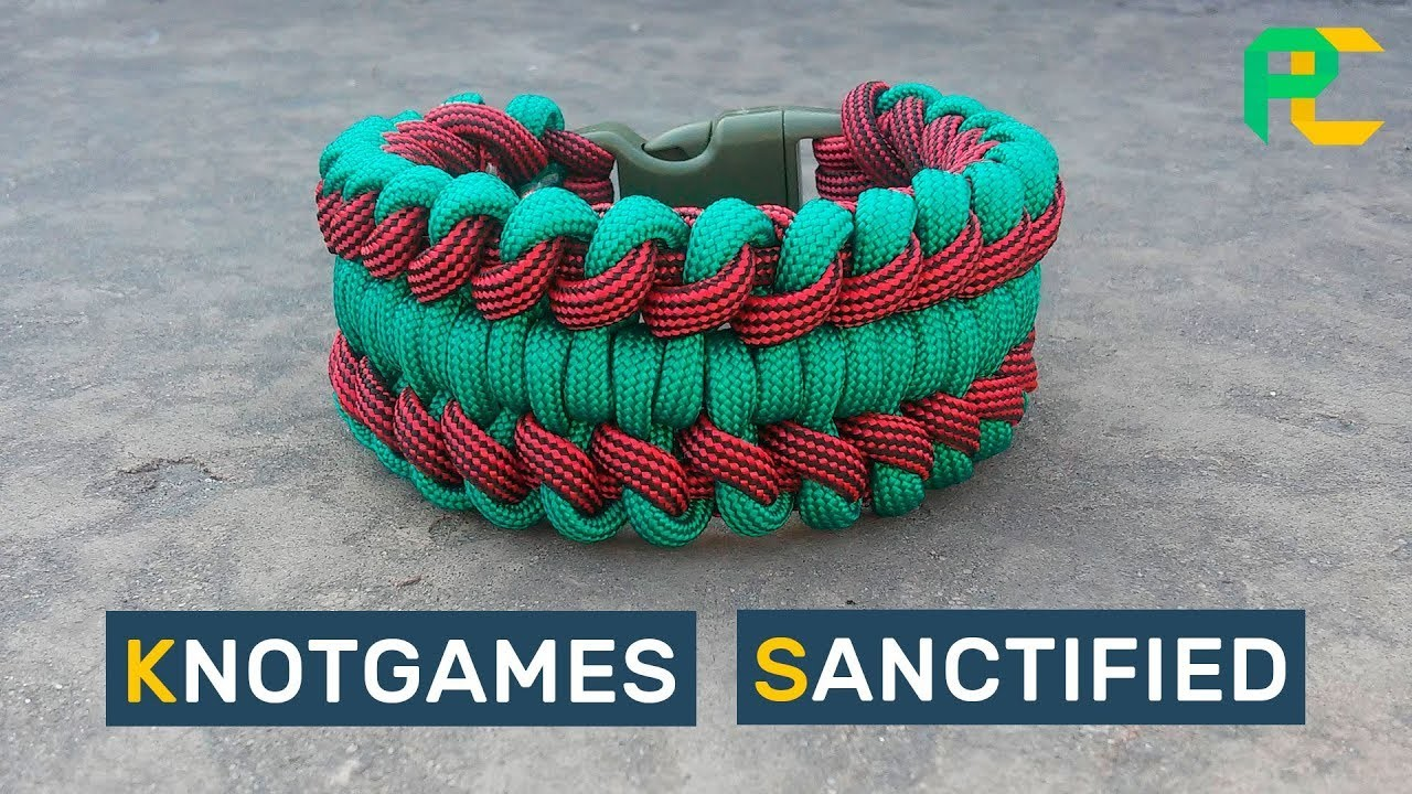 How to make Paracord Bracelet KnotGames Sanctified