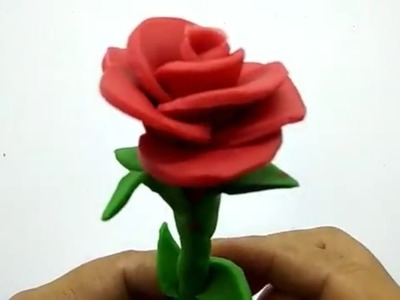 How to Make Play Doh Red Rose    Widy Toys