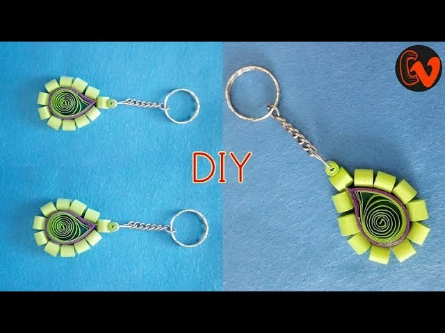 How to Make Quilling Key Chain. Quilled Key chain Tutorial. Design 13
