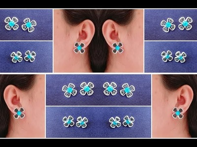 How To Make Quilling Stud Earrings Tutorial. Paper Quilling Earrings. Design 28