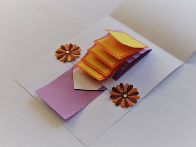 How to Make Waterfall Card Tutorial   Waterfall Card for explosion box tutorial