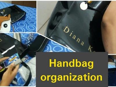 How to organize purse- handbag organization | hand bag organisation in tamil