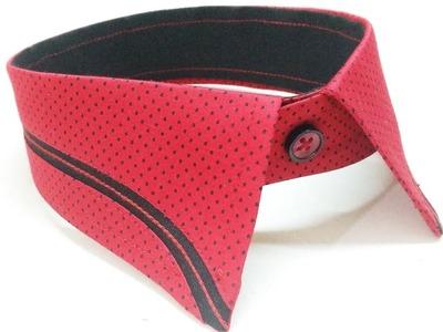 How to sew designer collar