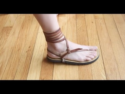"""How To Tie LUNA Sandals (with Long 72"""" Laces)"""
