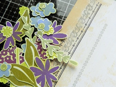 How To Use Distress Oxides with Tim Holtz Ideaology Foam Stamps and Create a Gesso Resist Background