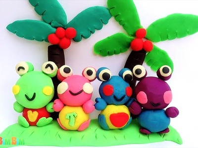 Learn How To Make Play Doh Frogs - Crafts and Activities - Paradise Island