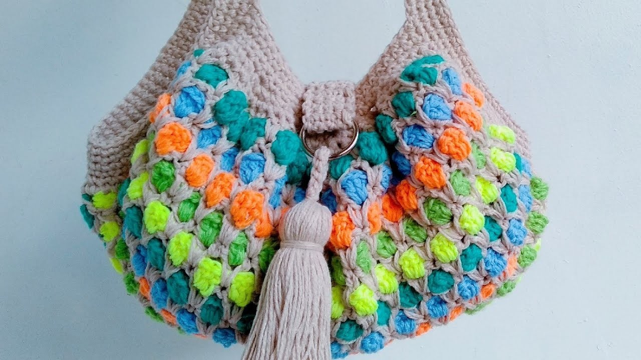 Left-handed Version: How to Crochet The Moroccan Tile Stitch Hand Bag Part 2
