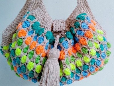 Left-handed Version | How to Crochet the Moroccan Tile Stitch Hand Bag Part 1