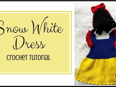 Part 1: Snow White Princess Dress Crochet Tutorial Video | Baby Princess Costume Tutorial