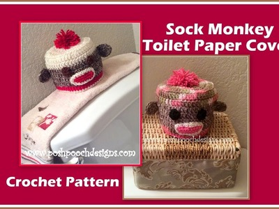 Sock Monkey Toilet Paper Cover Crochet Pattern