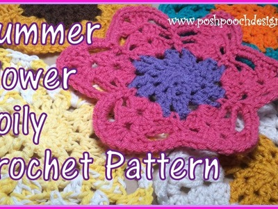 Summer Flower Doily Crochet Pattern