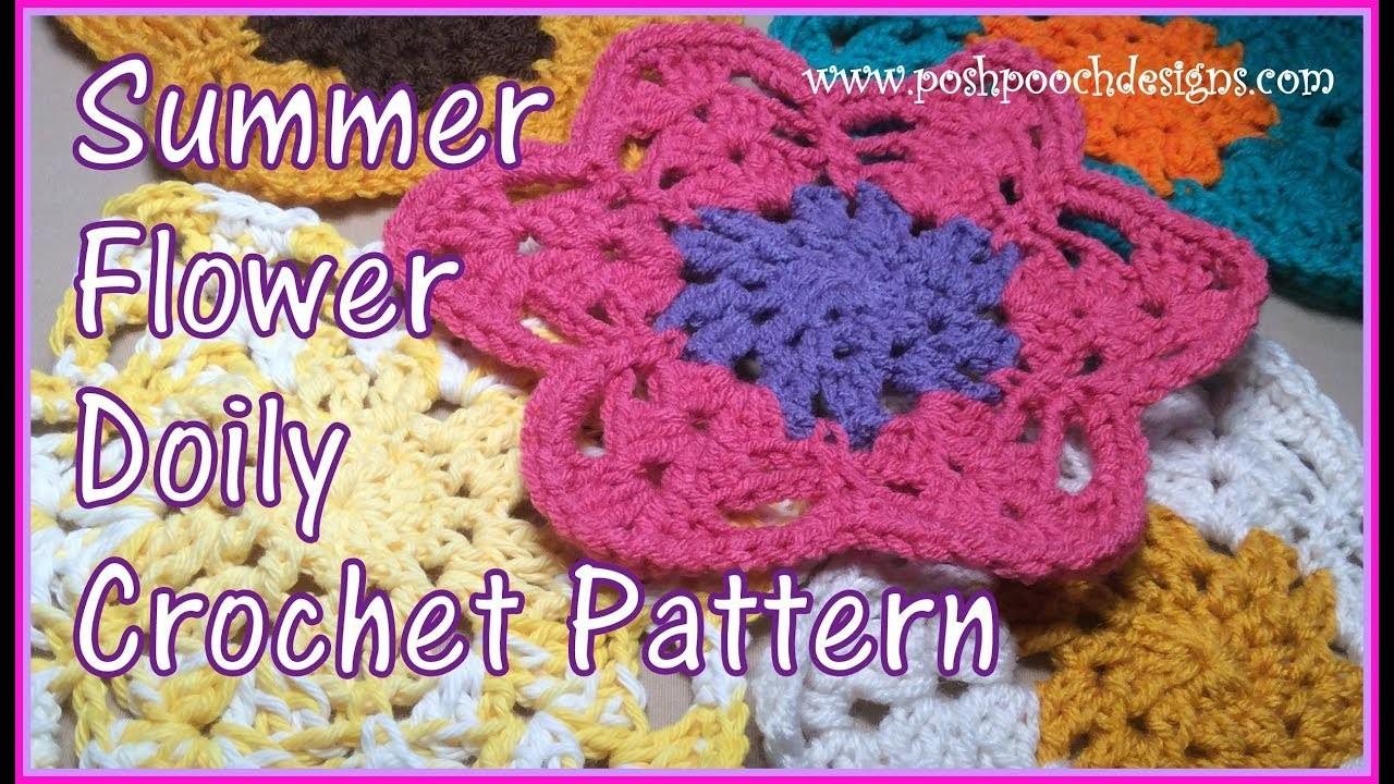 Summer Flower Doily Crochet Pattern