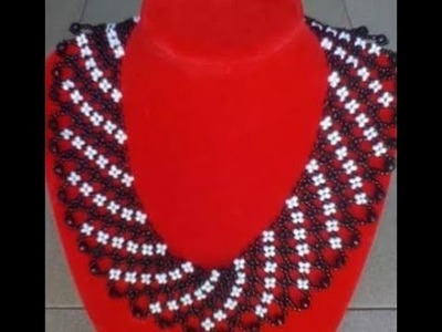 The tutorial on how to make this beautiful beaded jewelry.