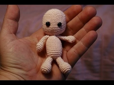 Tutorial - Crochet Pattern Baby - Miniature Doll for the Dollhouse