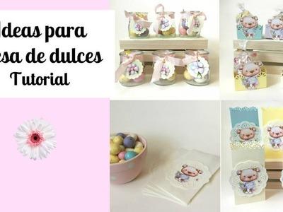 Tutorial DIY Ideas para mesa de dulces
