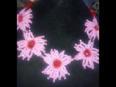 Tutorial on how to make this beaded jewelry necklace.