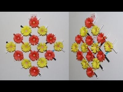 Zero Budget Flower Wall decor ideas - How to make flower paper origami - paper crafts idea