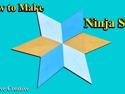 By Hand, How To Make a Paper Ninja Star, Origami, Primitive Creative