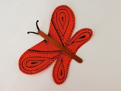 Decoration butterfly DIY drawing crafting with paper  Dekoration Schmetterling