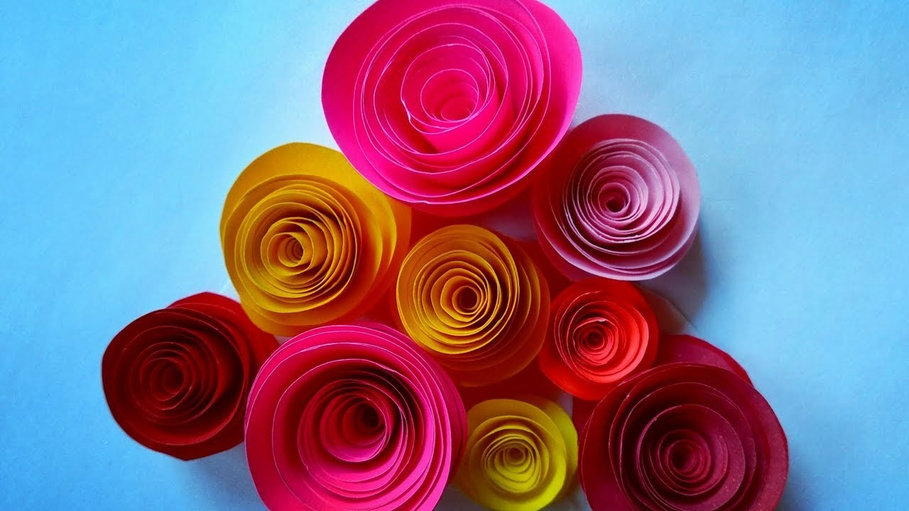 Diy Crafts Paper Rose Flower How To Make Paper Rose Flowers Step