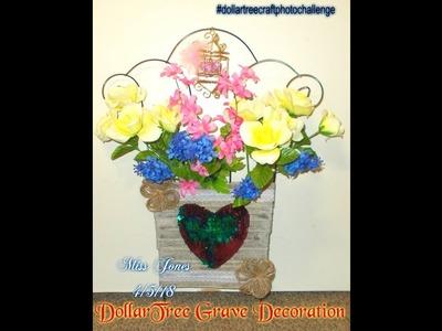 DIY DOLLARTREE GRAVE Decoration Or Cemetery Plot Decor