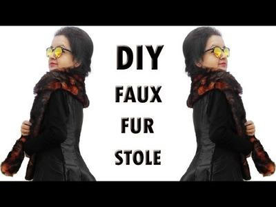 DIY Faux Fur Stole. Muffler - How to make a Muffler or Stole (Hindi)