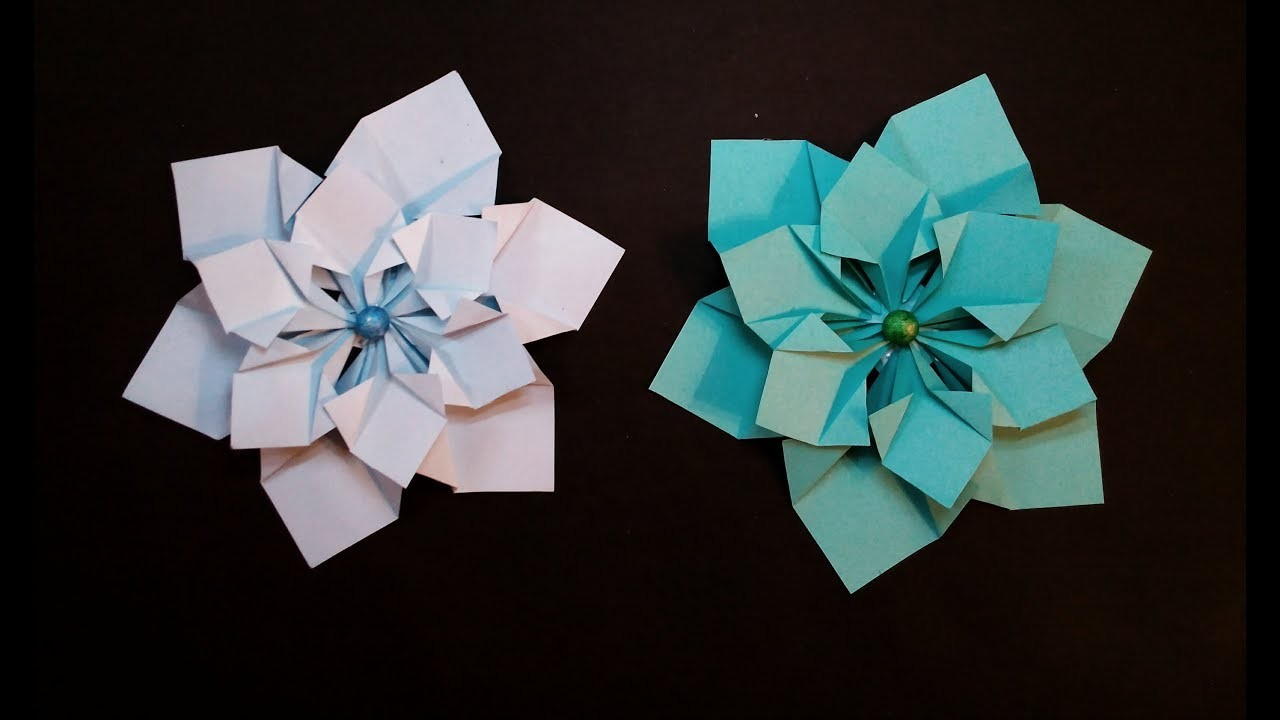 Diy Folded Paper Flowers