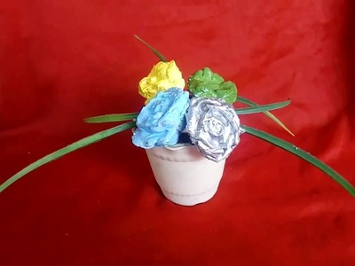 DIY How to make cement Flower| White Cement Flower casting | cement Flower