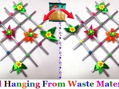 DIY How to Make Easy Wall Hanging With Waste Material|Wall Hanging craft ideas from waste materials