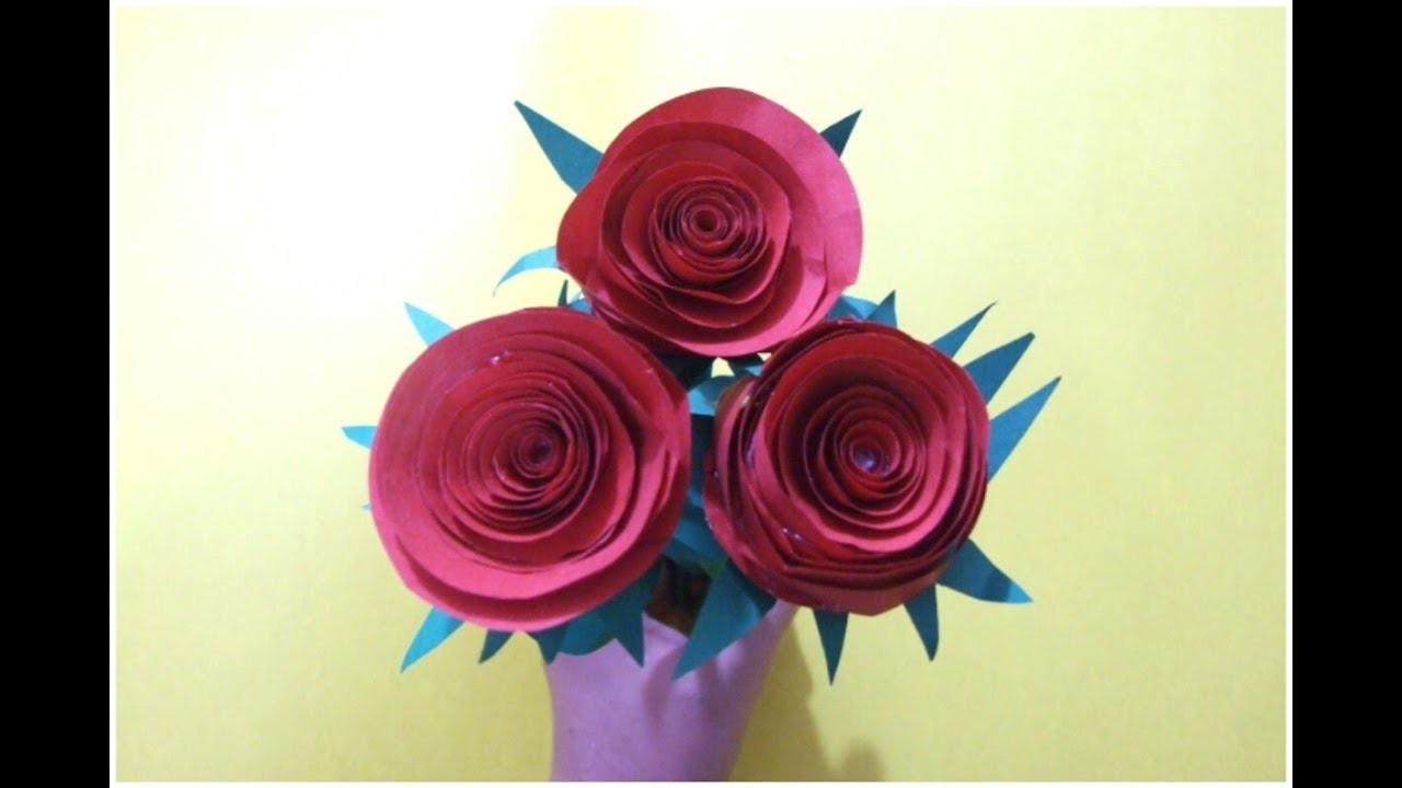 Summary How To Make Easy Paper Flowers For Kids Free Paper Rose