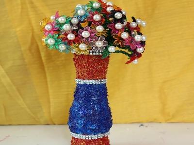 DIY Innovative Ideas Of Flower Vase | How to make beautiful flower vase using Rice - Craft ideas