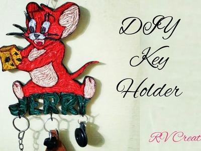 DIY key holder | how to make quilled Jerry key holder