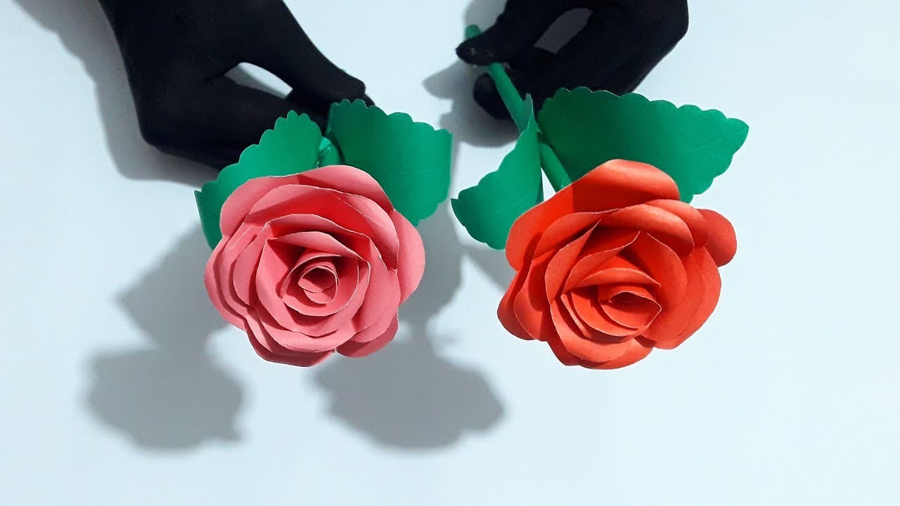 Diy Paper Flowers Paper Crafts Flowers Making Paper Rose Flowers