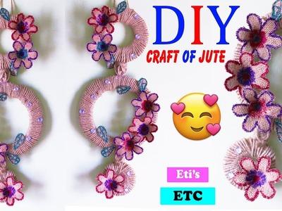 DIY:Wall Hanging Idea!!! How to Make Beautiful Wall Hanging With Jute Bag!! - Handmade craft of jute