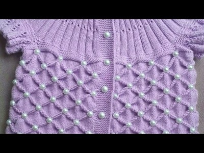Easy & beautiful knitting design in hindi (English subtitles ). easy sweater design. design no 79