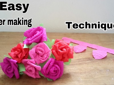 Easy flower making Technique.How to make flower.DIY flower making.Arts and craft
