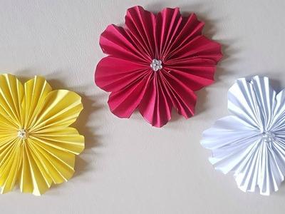 Crafts diy paper flowers diy room decor very easy and simple easy paper flower tutorial diella crafts mightylinksfo