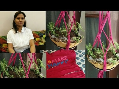 Hanging garden plants,how to make hanging garden plant,recycle,anvesha,s creativity