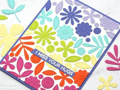 How to Create a Rainbow Die Cut Background