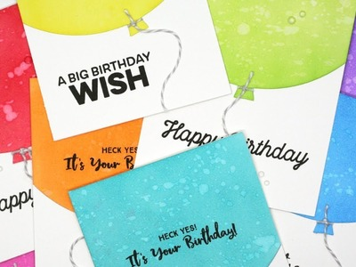 How to Create Quick & Easy Birthday Cards