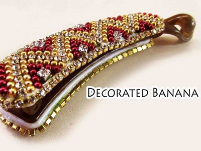 How to decorate banana clip | Party wear | Jewelry | DIY