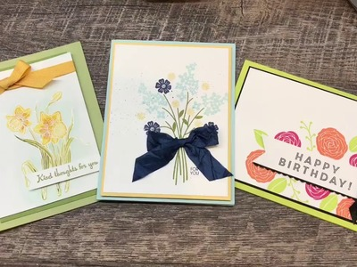 How to make 3 Cards for Spring filled with tips and tricks!