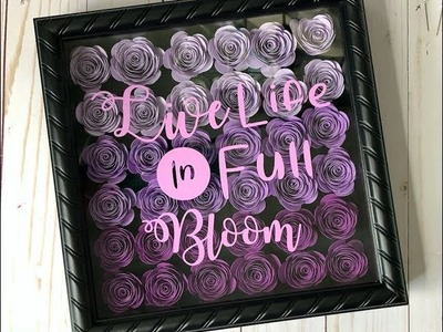 How To Make a 3D Paper Flower Shadow box with Cricut