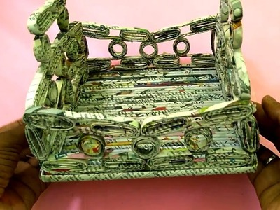 How to make a Basket | Newspaper Basket | All Type videyos